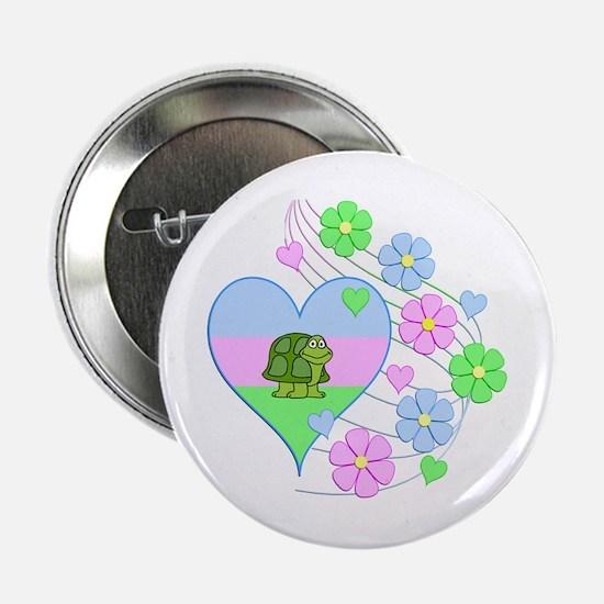 "Fun Turtle Heart 2.25"" Button"