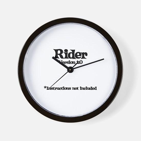 Rider Version 1.0 Wall Clock