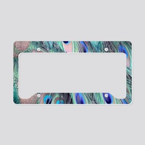 Peacock Eye Feather Colorful License Plate Holder