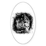 DeadCrows 001 Oval Sticker