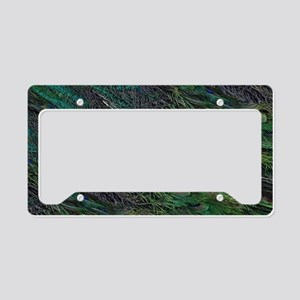 Flowing Green Peacock Eye Feather License Plate Ho