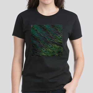 Flowing Green Peacock Eye Feather T-Shirt