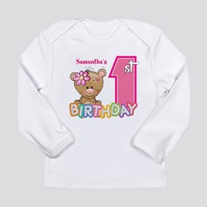 Baby First Birthday Cut Infant Long Sleeve T-Shirt