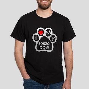 I Love My Borzoi Dog Dark T-Shirt
