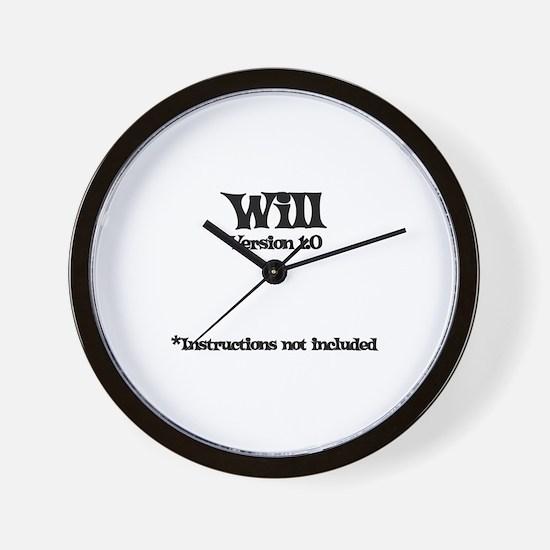 Will Version 1.0 Wall Clock