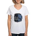 EmoJoy: Emo 001 Women's V-Neck T-Shirt
