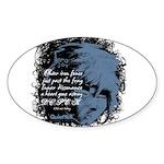 EmoJoy: Emo 001 Oval Sticker