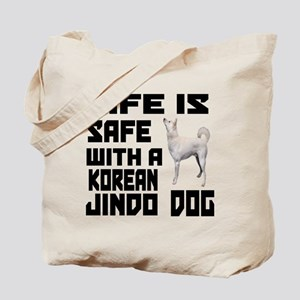 Life Is Safe With A Jindo Tote Bag