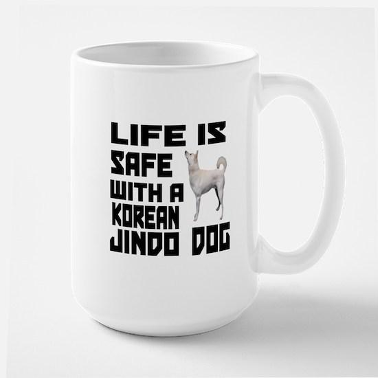 Life Is Safe With A Jindo Large Mug