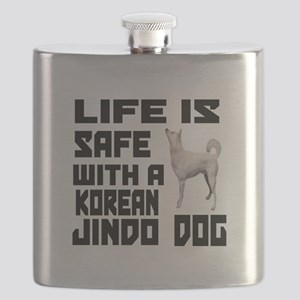 Life Is Safe With A Jindo Flask
