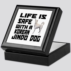 Life Is Safe With A Jindo Keepsake Box