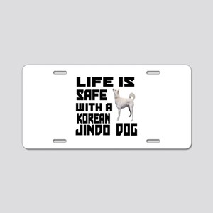 Life Is Safe With A Jindo Aluminum License Plate