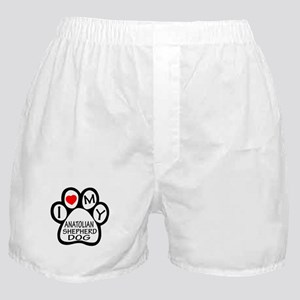 I Love My Anatolian Shepherd dog Boxer Shorts