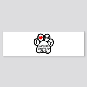 I Love My Anatolian Shepherd dog Sticker (Bumper)