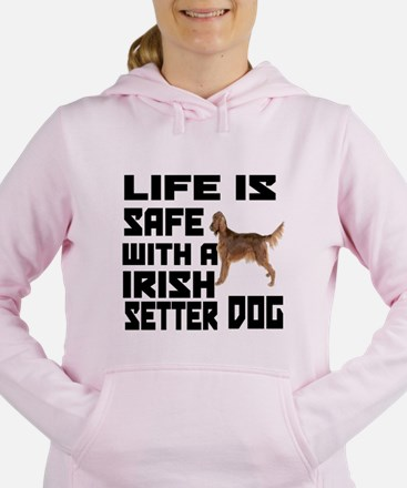 Life Is Safe With A Iris Women's Hooded Sweatshirt