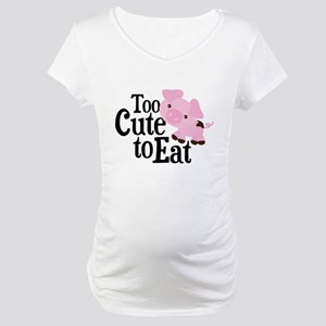 Vegan Pig Maternity T-Shirt