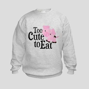 Vegan Pig Kids Sweatshirt