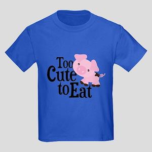 Vegan Pig Kids Dark T-Shirt
