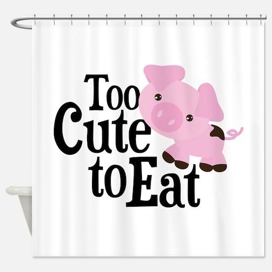 Vegan Pig Shower Curtain