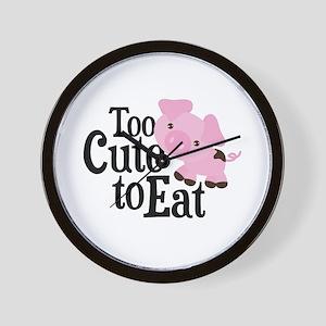 Vegan Pig Wall Clock