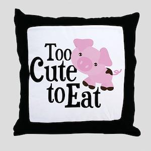 Vegan Pig Throw Pillow