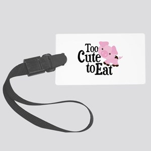 Vegan Pig Large Luggage Tag