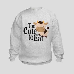 Vegan Cow Kids Sweatshirt