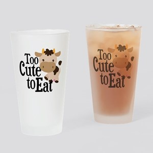Vegan Cow Drinking Glass