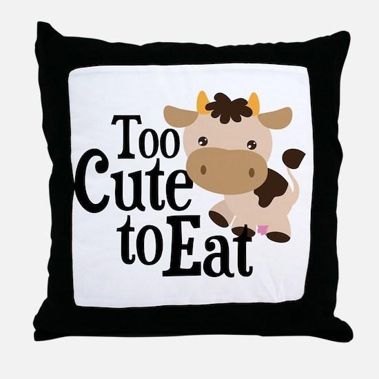 Vegan Cow Throw Pillow