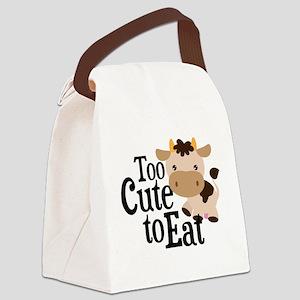 Vegan Cow Canvas Lunch Bag