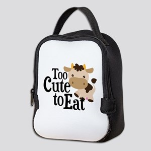 Vegan Cow Neoprene Lunch Bag