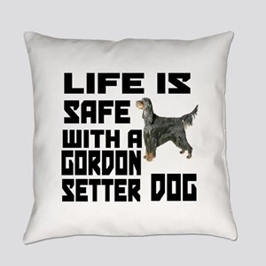 Life Is Safe With A Gordon Setter Everyday Pillow