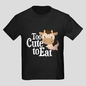 Vegan Cow Kids Dark T-Shirt