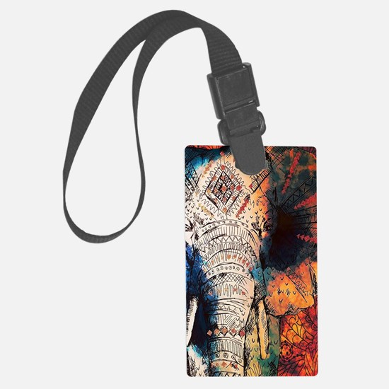 Unique Red elephants Luggage Tag