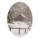 Motherlode Barn - Oval Ornament