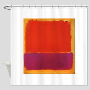 ROTHKO PURPLE ORANGE YELLOW Shower Curtain