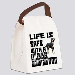 Life Is Safe With A Entlebucher M Canvas Lunch Bag