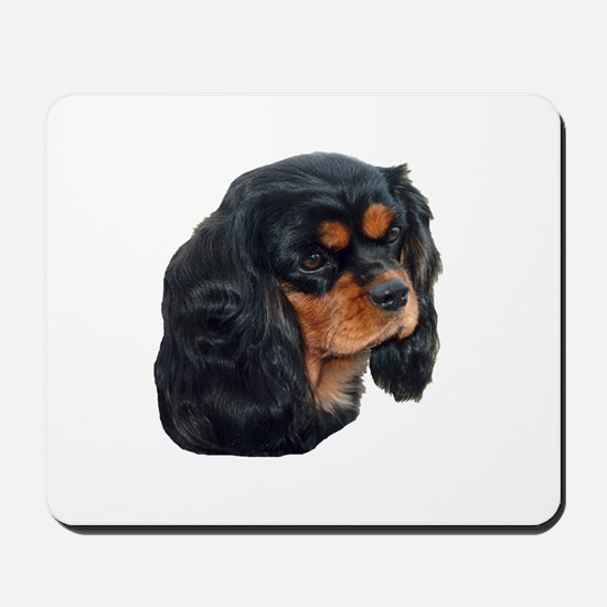 Black and Tan Cavalier King Charles Span Mousepad