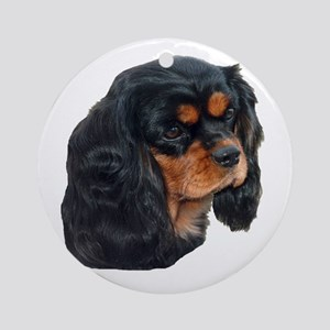 Black and Tan Cavalier King Charles Round Ornament