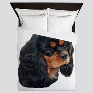 Black and Tan Cavalier King Charles Sp Queen Duvet