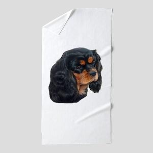 Black and Tan Cavalier King Charles Sp Beach Towel