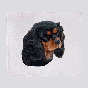 Black and Tan Cavalier King Charles Throw Blanket