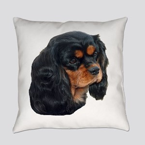 Black and Tan Cavalier King Charle Everyday Pillow