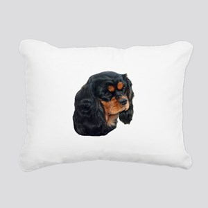 Black and Tan Cavalier K Rectangular Canvas Pillow