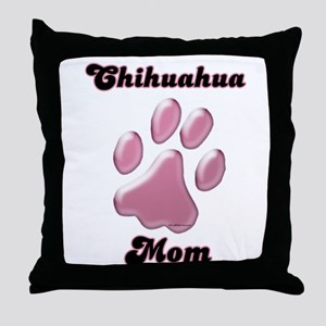 Chihuahua Mom3 Throw Pillow