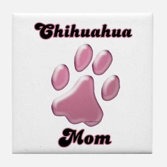 Chihuahua Mom3 Tile Coaster