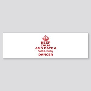 Keep calm & date a Scottish Count Sticker (Bumper)