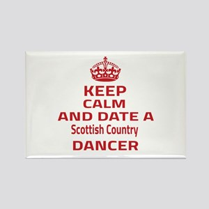 Keep calm & date a Scottish Count Rectangle Magnet