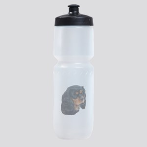 Black and Tan Cavalier King Charles Sports Bottle
