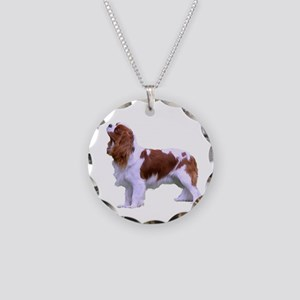 Blenheim Cavalier King Charl Necklace Circle Charm